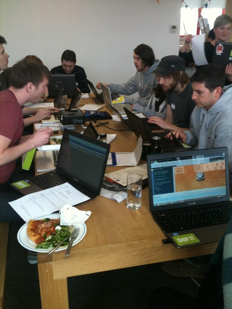 Twitter / distilled: They call this a working lunch... ...
