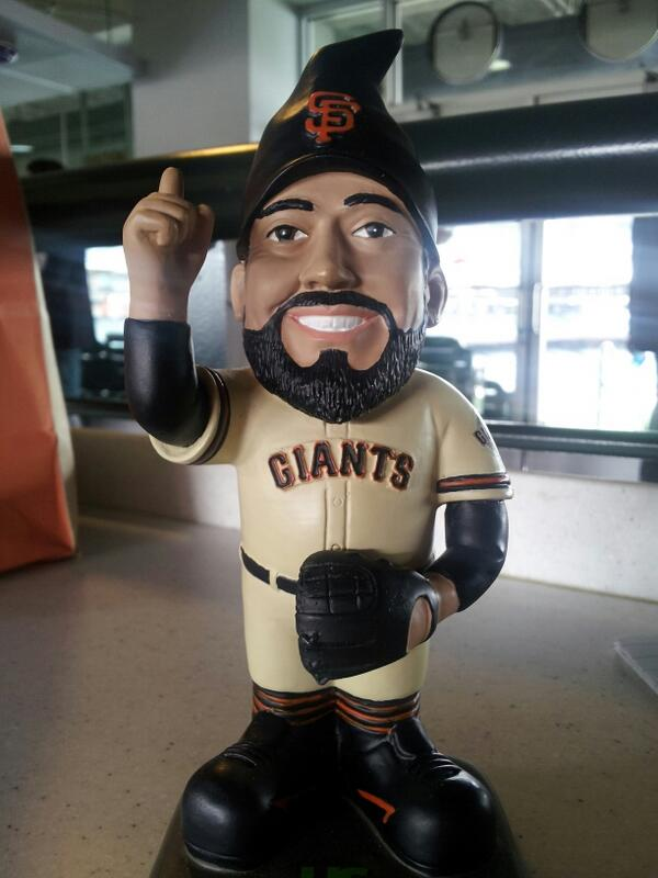 FIRST LOOK: Sergio Romo Gnome, #sfgiants promo on May 5. http://t.co/VHxVJb2cDO