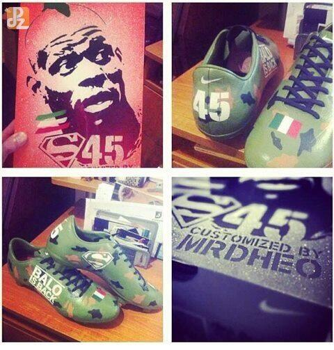 Awesome pictures! Mario Balotellis new Camouflage Nike boots