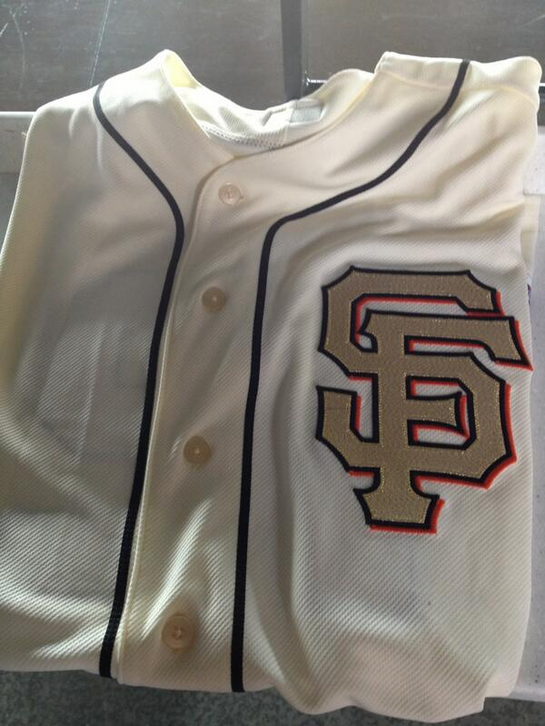 #SFGiants will wear this jersey for the  #SFGRing Ceremony on 4/7 #SFG2013 http://t.co/2kPyIHsXrf