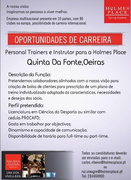 Twitter / netemprego_sapo: Personal Trainers e Intrutor ...