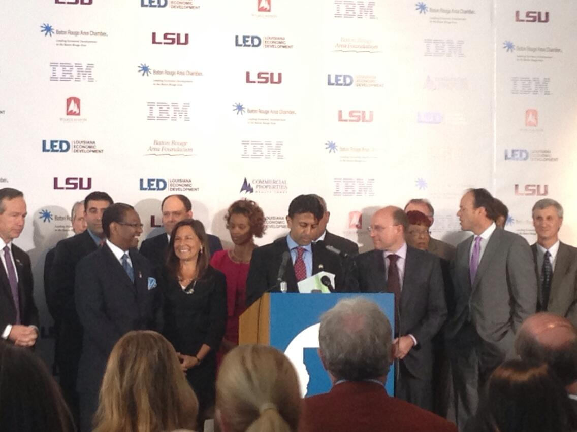 Gov. Jindal at IBM Baton Rouge announcemen