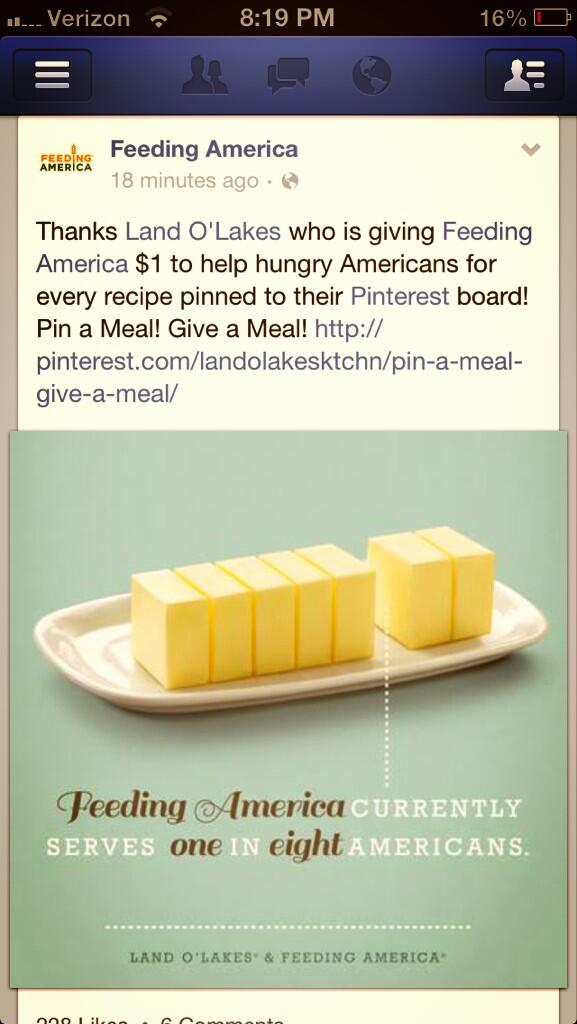 Twitter / yaddajillian: Pin a meal, give a meal! ...