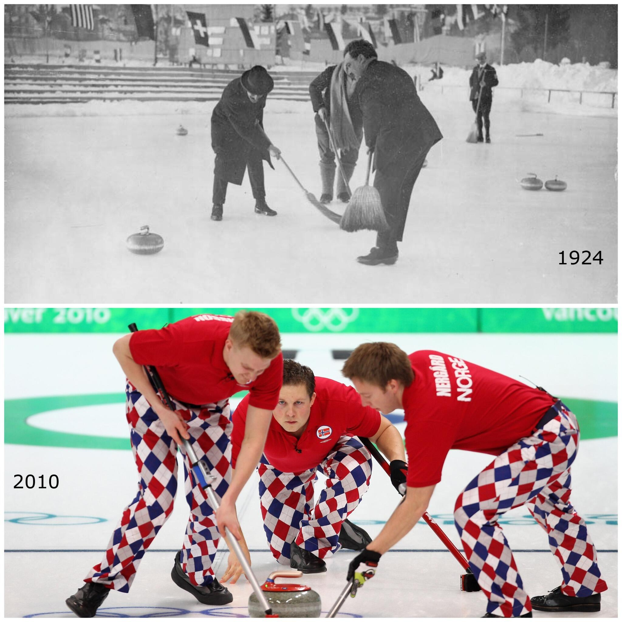 Twitter / Olympics: Olympic Curling in 1924 and ...