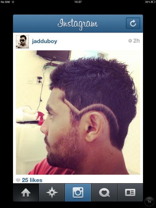 Aisharya Dutta On Twitter Sir Jadeja S New Hairstyle D Http T