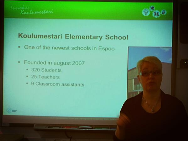 At Koulumestari Elementary School-25% of kids have special needs. One of newest schools in Finland #pennfinn13 http://t.co/YHyBKTCr4e