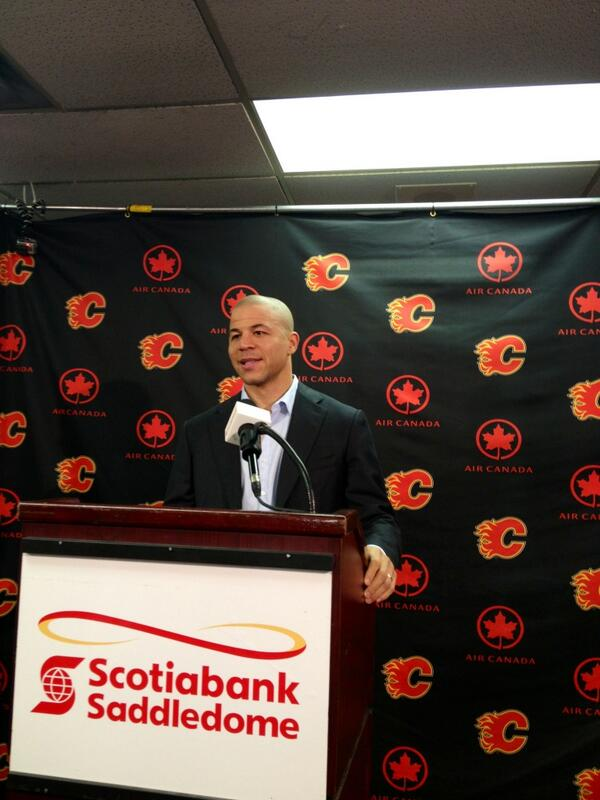 """Thank you Calgary."" - Jarome Iginla http://t.co/WbwQKyBR68"