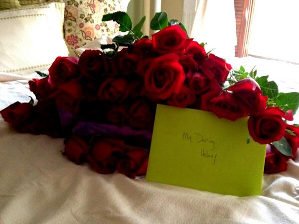 Hilary Russo On Twitter Four Dozen Roses Champagne From My Love