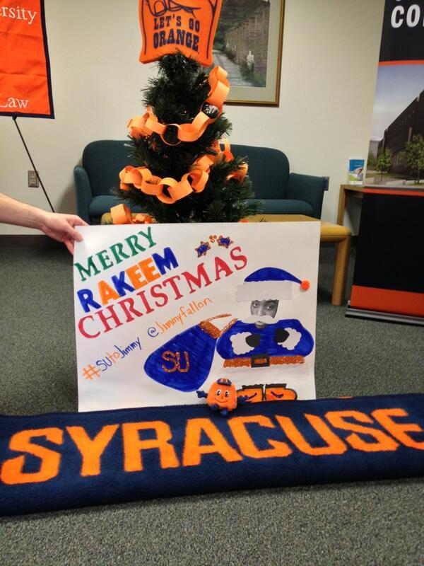 @jimmyfallon Orange!!!  #SUtoJimmy http://t.co/P4KJszBOjL