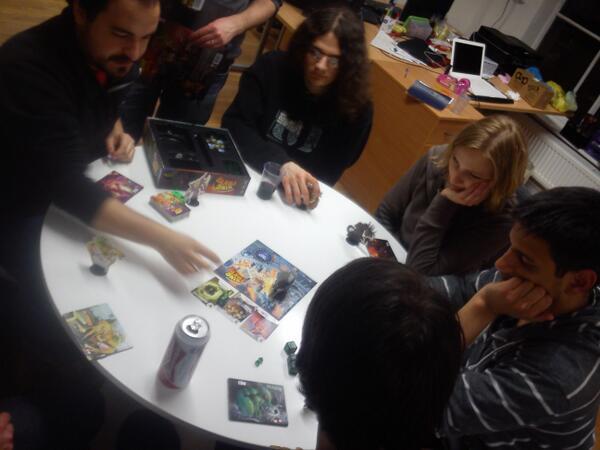Playing boardgames at Bristol Games Hub