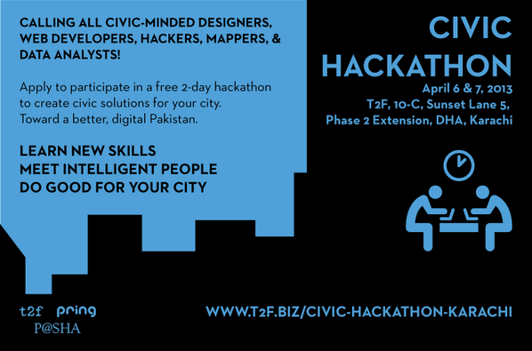I'm running #CivHackKHI Apr 6-7 w/ @PASHAORG @thesecondfloor. Calling all geeks to register! http://t.co/wx1rcSilzh http://t.co/5dT0a23SuE