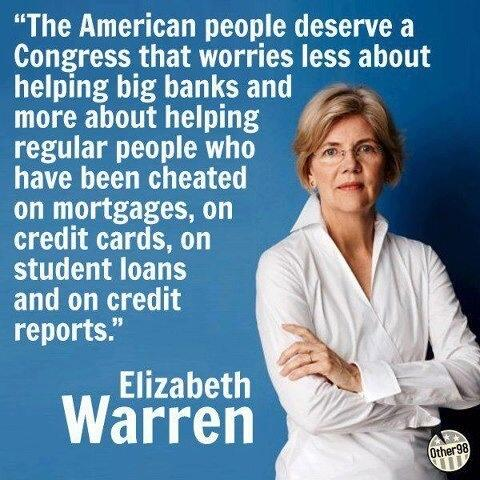 Sen. Elizabeth Warren: You go girl!