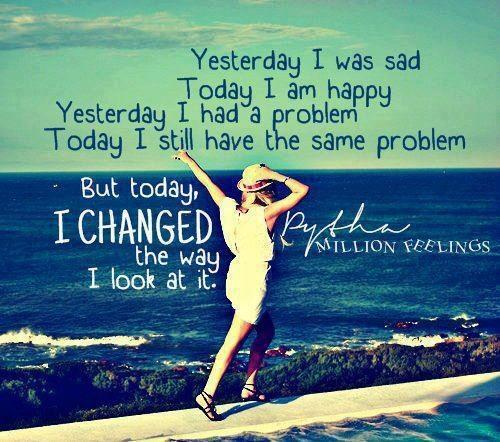 Twitter / JoyAndLife: Yesterday I was sad. Today ...