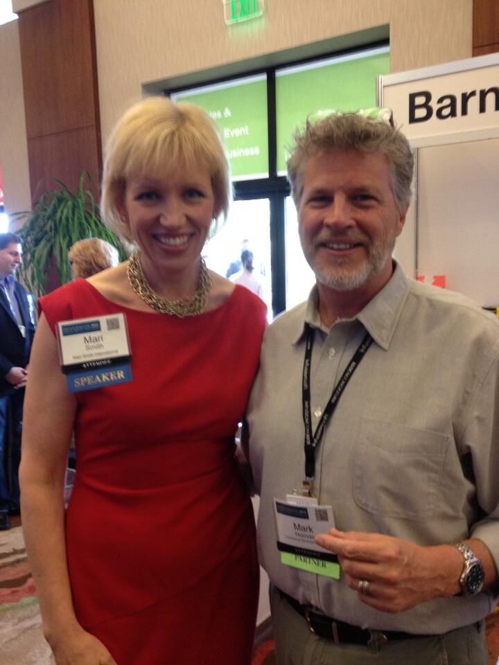 Twitter / MarkHooverTrng: With @MariSmith at InfusionCon ...