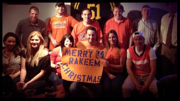 @jimmyfallon Merry Rakeem Christmas from SU Philly Alumni  #SUtoJimmy @FieldHousePHL http://t.co/khpZSFHg75