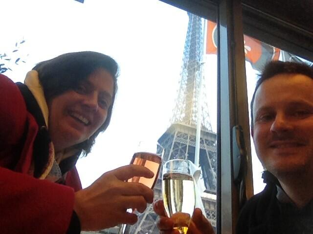 Twitter / KarenDFrancis: Champagne under the Eiffel ...