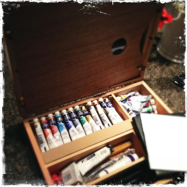 Twitter / NVanReece: Watercolor box going in suitcase ...
