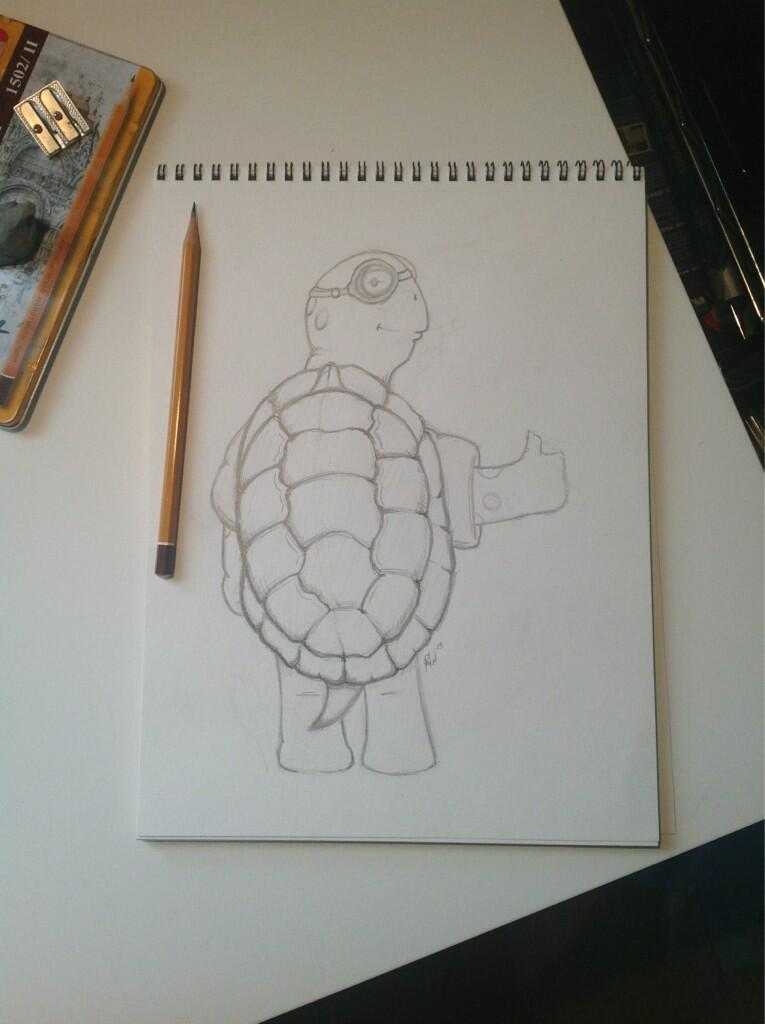Twitter / OMUNKY: Here's a sketch of a turtle ...