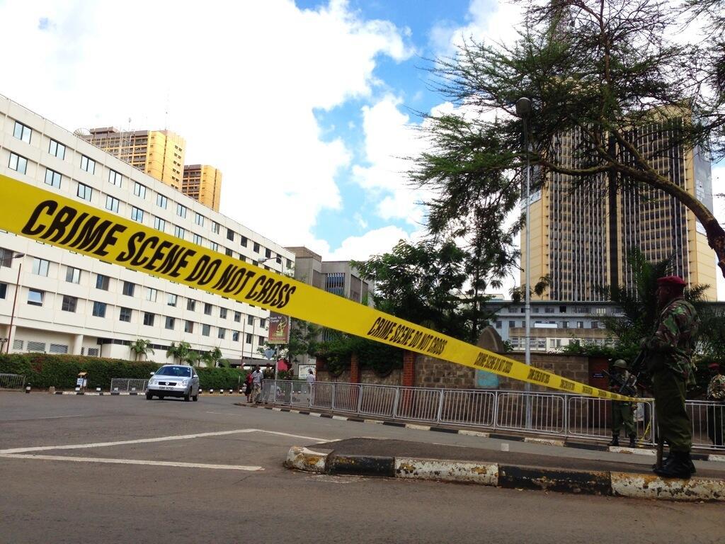Twitter / kelvinnews: Road outside #Kenya's Supreme ...