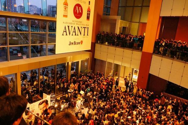 #AVANTI 放送終了直後に教授のライヴは始まった! 2013/3/30 17:56 2階より楽しませてもらいました。