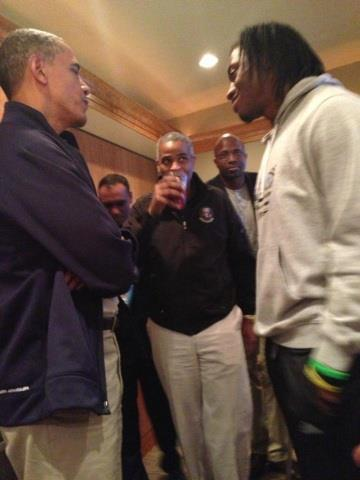 RGIII hangs out with President Obama at NCAA tournament (Photo)