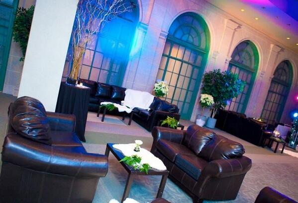 Corporate furniture rentals, luxury leather couch, delux folding chairs, custom bar, wooden arbors, wedding furniture, high boy round tables, custom branded hospitality suites, lighted bars, wicker and rattan, DC MD VA