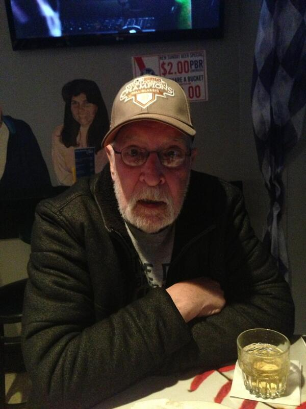 Watching the #SFGiants season opener with my father. The biggest Giants fan I know besides myself. Nice hat. pic.twitter.com/5gg6Gmn747