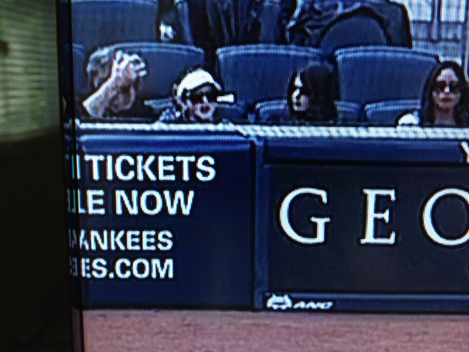 Keith sitting with two women Opening Day 2013 Yankees vs Redsox at Yankee Stadium 3