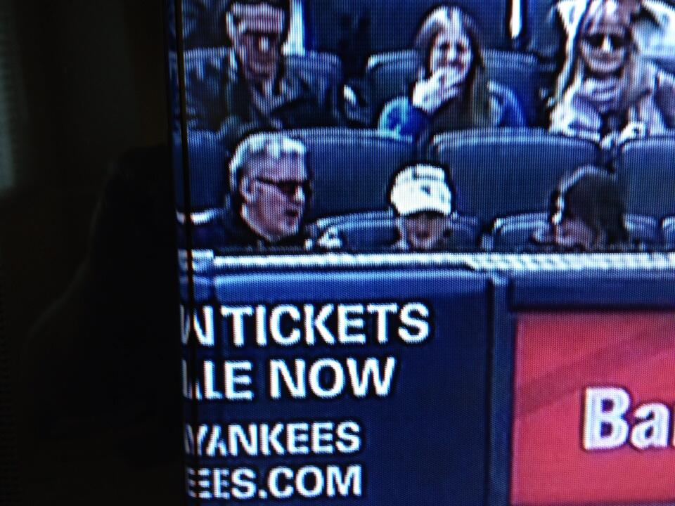 Keith sitting with two women Opening Day 2013 Yankees vs Redsox at Yankee Stadium 2