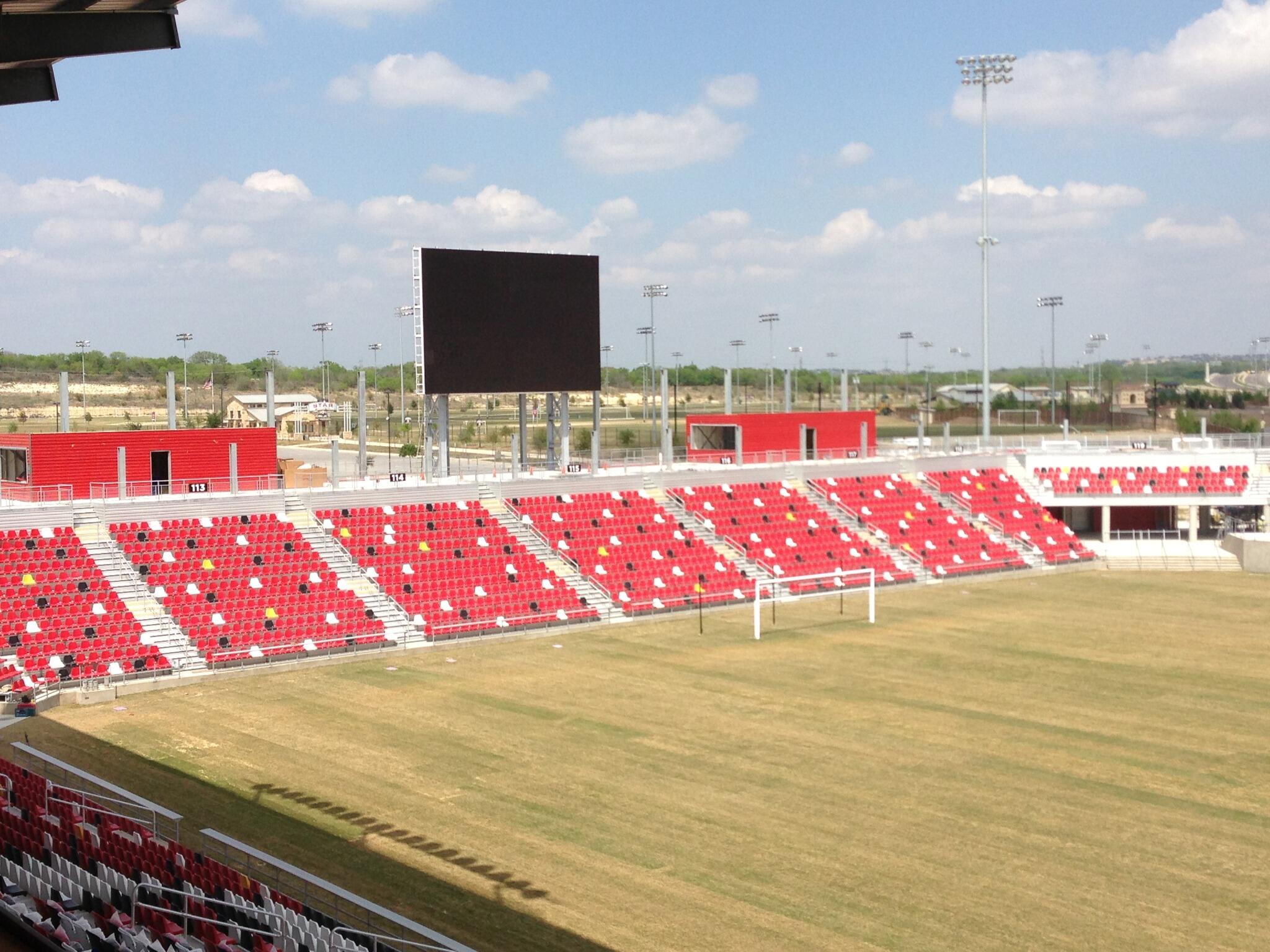 Twitter / SAScorpions: The new video board and goal ...