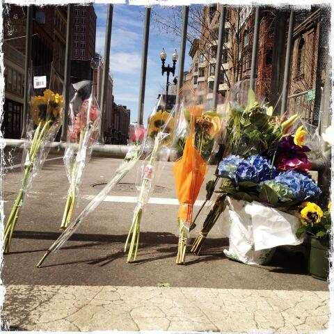 Boylston Street is now becoming a shrine, a moment frozen in time, a marathon unfinished. http://pic.twitter.com/2xbnxRam8P