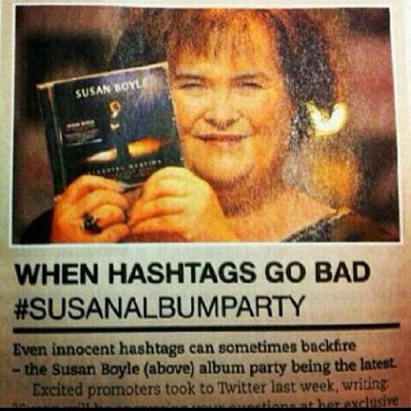 Hashtags gone wrong - susan boyle