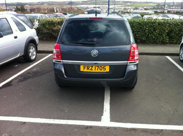 FRZ 1705 displaying Selfish Parking