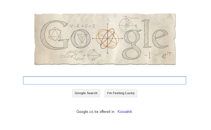 Twitter / echenze: Today's Google doodle celebrating ...