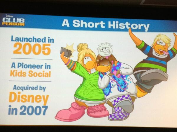 Snapshot of the history of #ClubPenguin #ClubPenguinSummit pic.twitter.com/rWVtaxE5D3