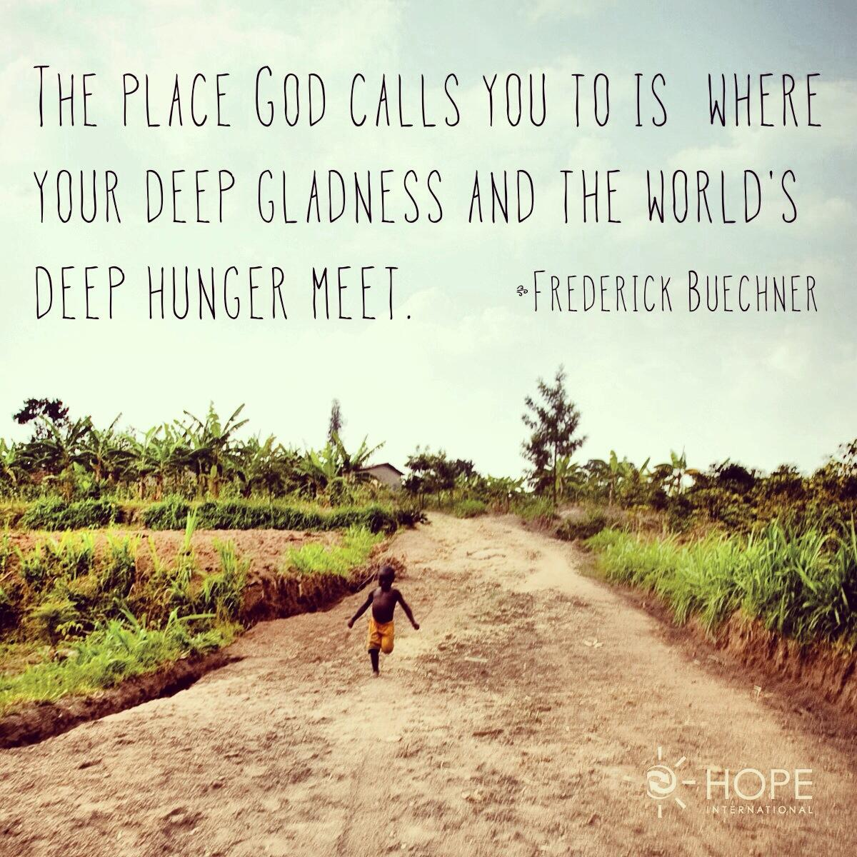 "Mission Trip Quotes: HOPE International On Twitter: ""The Place God Calls You To"