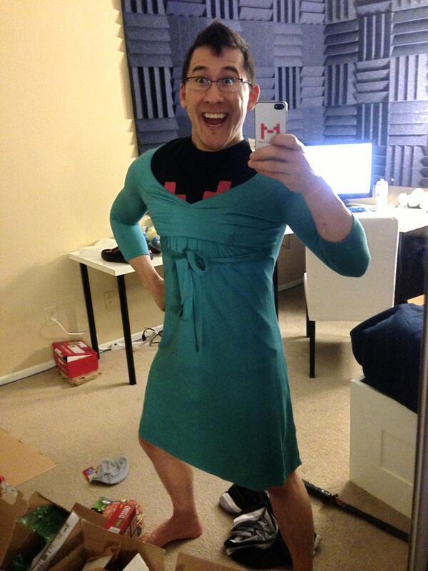 Markiplier on Twitter: u0026quot;Someone sent me a dress! Just my size!! http ...