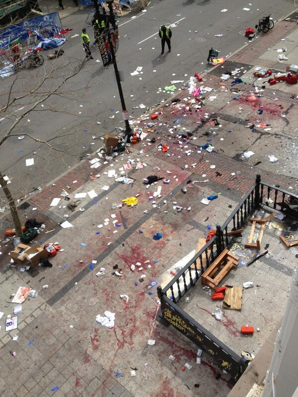 Bomb at #Boston #marathon finish. pic.twitter.com/6ppZ0Rxs3M