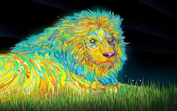 Colorful Lion Embedded image permalink