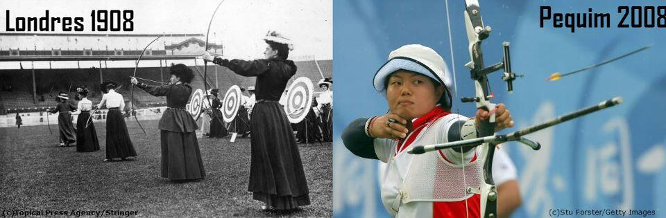 Twitter / Olympics: Women's #archery 1908 and 2008 ...