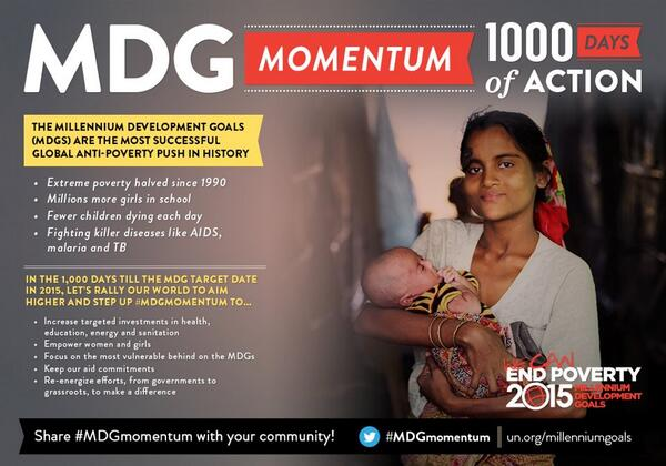 Find out about the most global successful anti-poverty push in history -- bit.ly/X9VXRd #MDGmomentum pic.twitter.com/WsOr3cWT9d