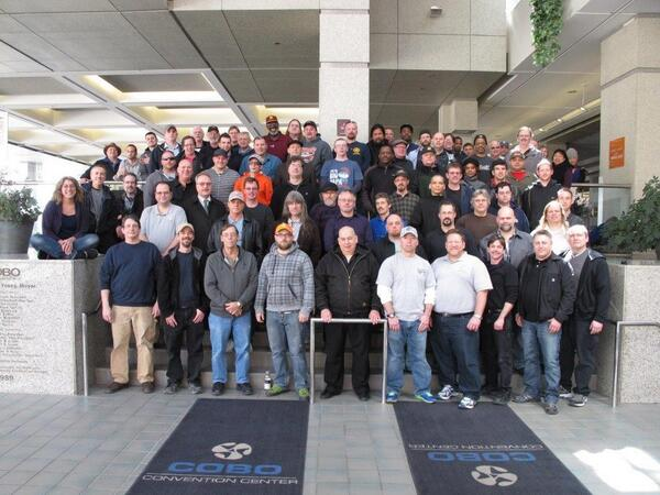 Great turnout @ #InfoComm prep in Detroit ths wk! Locals 12, 17, 18, 26, 27, 30, 38, 101, 199, 201, 395, and 580.