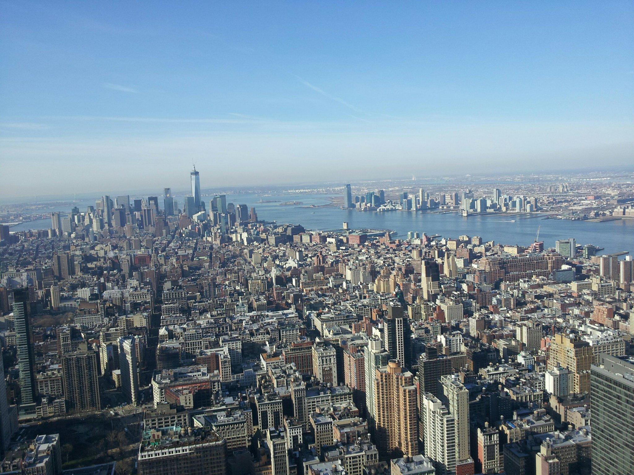 Twitter / MinorBranding: Uitzicht vanaf Empire State ...