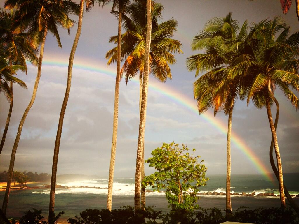 Twitter / alroker: A rainbow one morning from ...