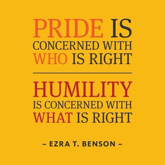 Twitter / JoyAndLife: Pride is concerned with who ...