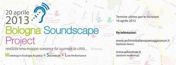 #bologna #soudscape project! #workshop di ecologia acustica/sound design/passeggiata sonora/sound mapping/live setpic.twitter.com/aJRi6SrOWp