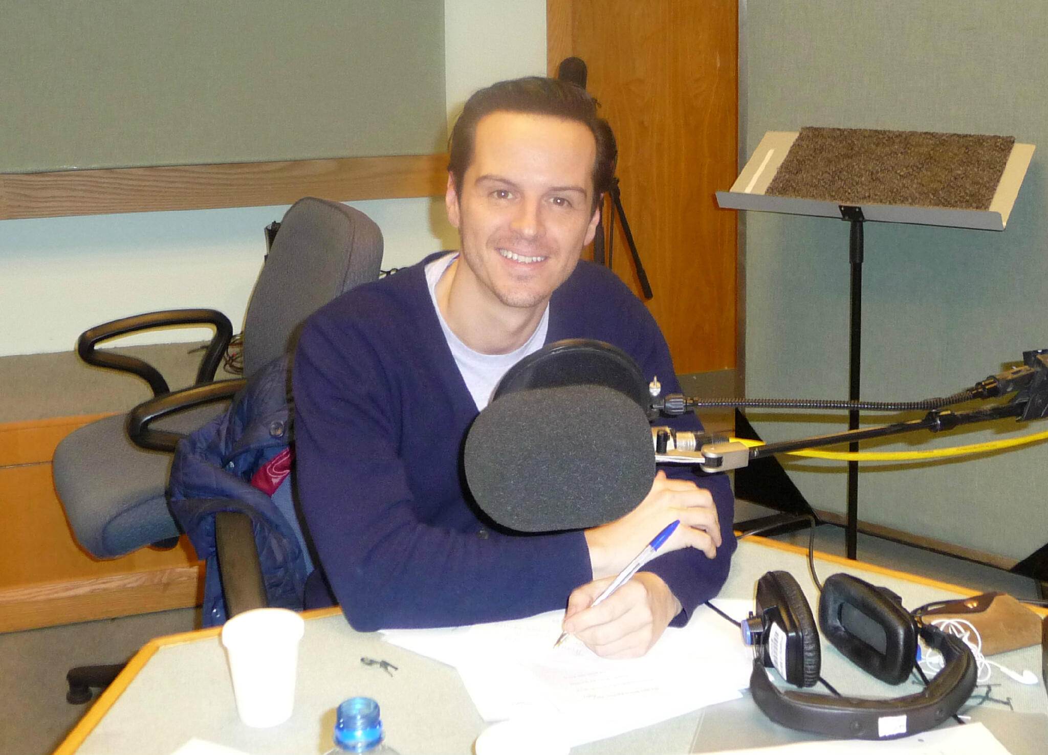 Twitter / HeatherLarmour: Andrew Scott in studio recording ...