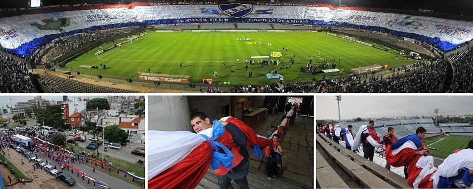 Twitter / NL_Barca: Nacional fans zijn erg druk ...