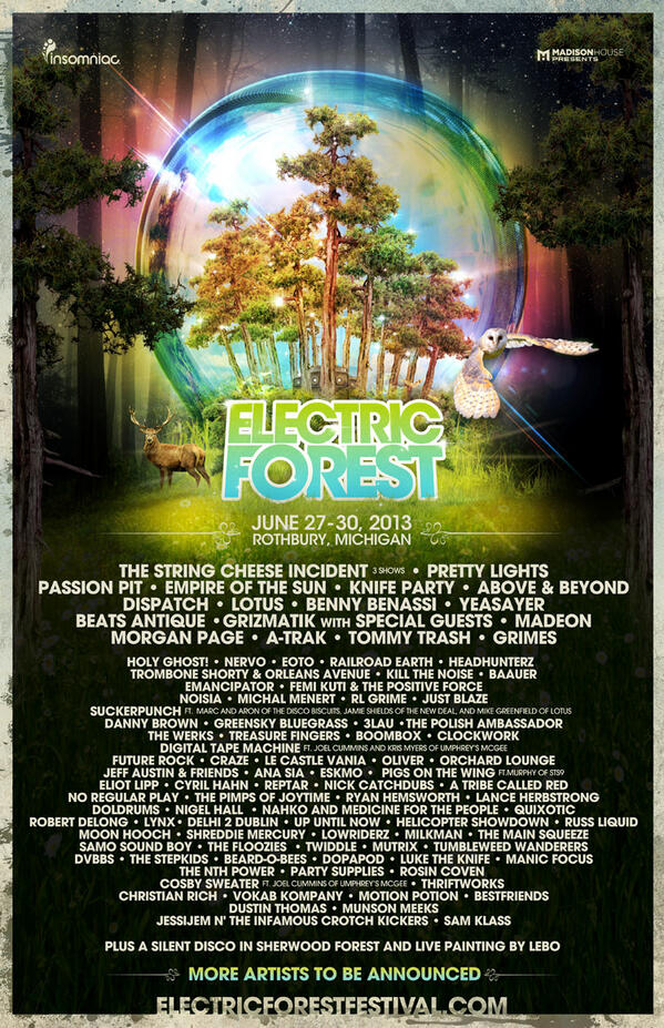 Electric Forest 2013 | Lineup | Tickets | Dates | Video