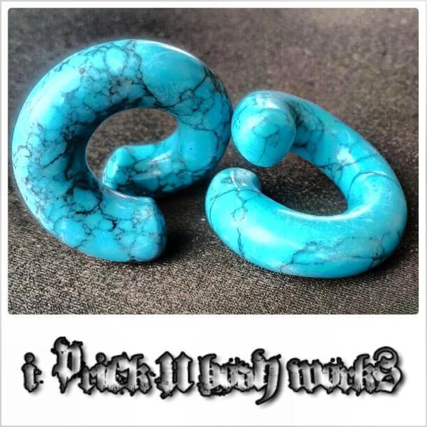 Twitter / ipricku: Blue Turquoise Twist Earrings ...